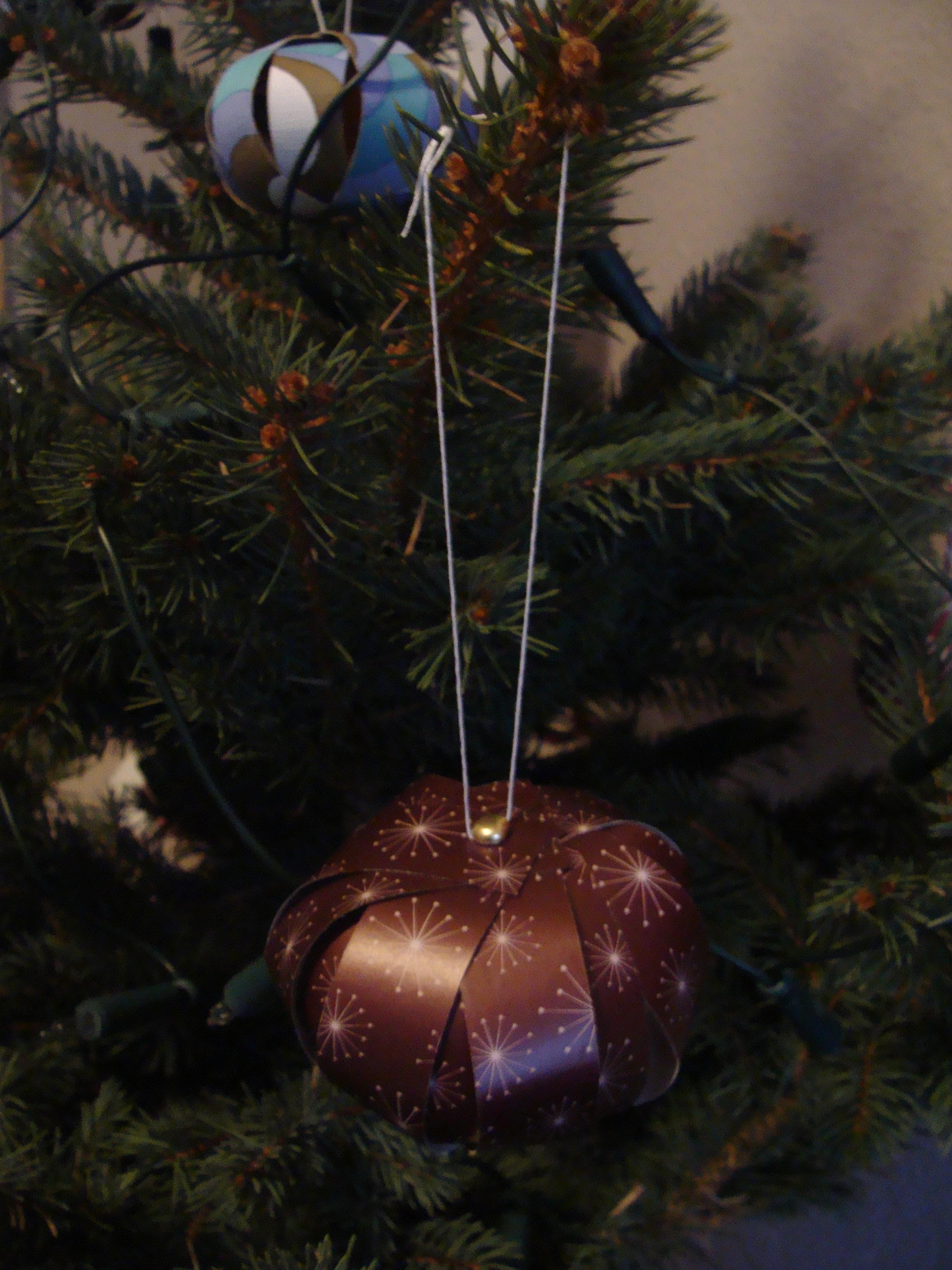 Selbermachen Papierkugeln Für Den Weihnachtsbaum Casa Colorata