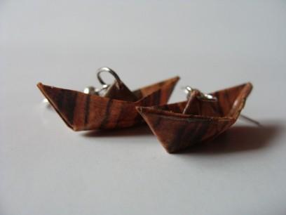 Boote Ohrringe Origami