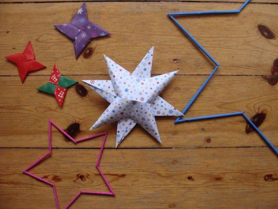Verschiedene Sterne aus Papier