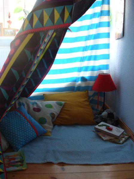 Zelt aus Decken