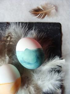 grünes gedipptes Ei