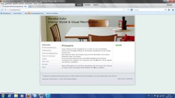Screenshot Webseite