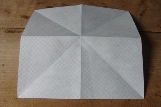 gefaltetes Origamiblatt