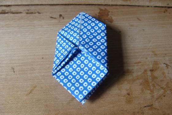 Origami-Ball unaufgeblasen