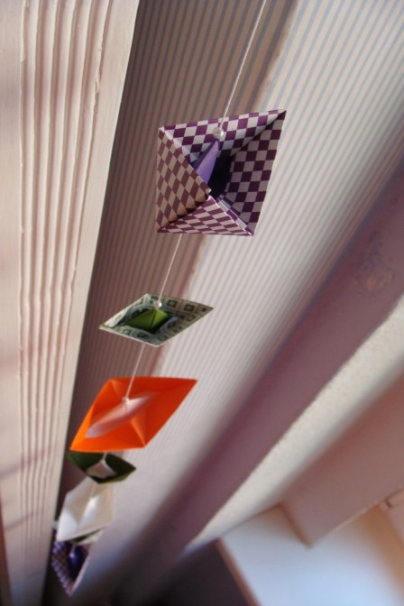 Origami Girlande Casa colorata