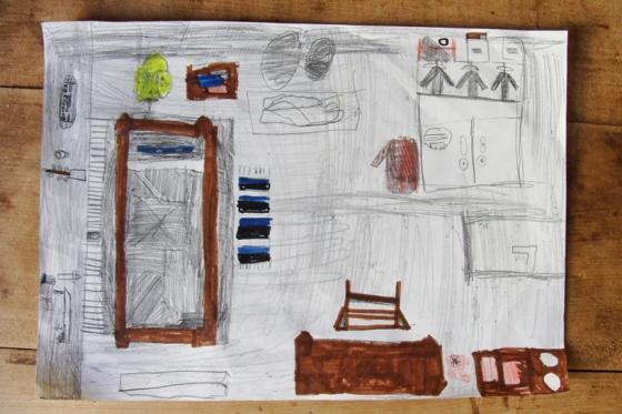 Kinderzeichnung Zimmer